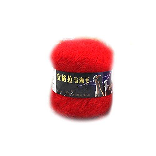 2016 Art und Weise weiche Luxus Mohair Wollstrickgarn Pullover Schal Strickwolle Rot