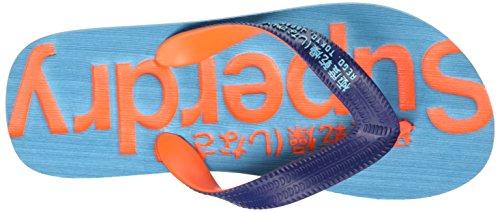 Superdry Flip Flop, Tongs Homme Bleu - Blu (French Nvy/Hazrd Orng/Blu AtolWFI)