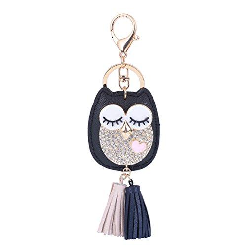chlüsselanhänger Anhänger charme schlüsselanhänger Mode Damen Tasche Dekoration (schwarz) ()