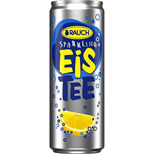 Rauch Eistee Sparkling Zitrone, 24er Pack, 24 x 355 ml