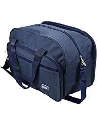 Storite Multipurpose Matty Blue Travel Luggage Storage Duffle Cabin Size Bag with Adjustable Strap (17x10x11 Inch)