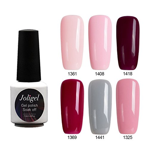 Joligel Set Esmaltes Uñas Gel Soak Off UV LED Manicura