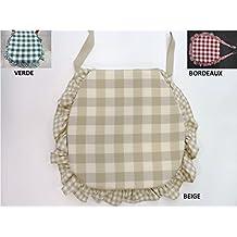cuscini sedie cucina set 6 pezzi tessuto idrorepellente e antimacchia 3 varianti colore sagomato con zip