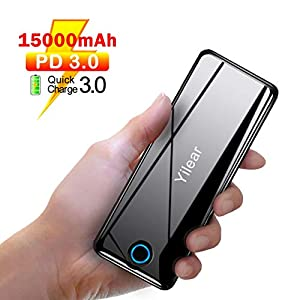 10000 mah Mini Power Bank Quick Charge, Mini Batteria Caricabatterie Portatile con Type C e Due Porte USB di 2.4A… 1 spesavip
