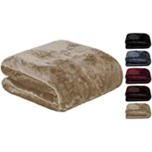 Manta de suave microfibra que le garantizará una sensación de cashmere, sedoso y con un