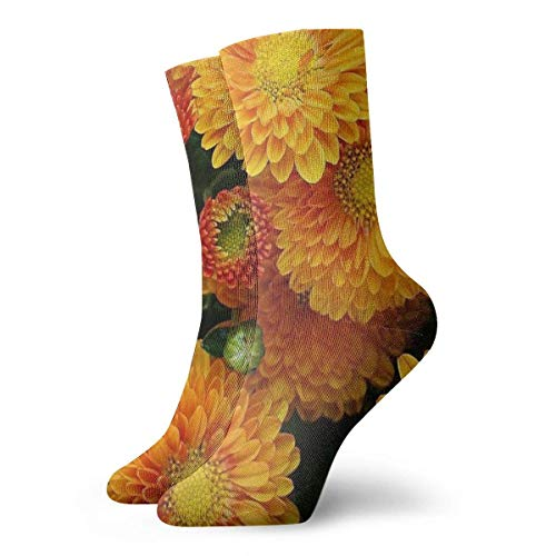 REordernow Kurze Socken für Männer, Frauen Golden Chrysanthemum Adult Short Socks Cotton Cozy Socks for Mens Womens Yoga Hiking Cycling Running Soccer Sports -