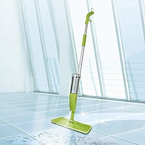 CLEANmaxx lavapavimenti a spruzzo con tanica XXL da 600 ml, innovativa Scopa Verde Mela con Funzione Spray Integrata, per Pavimenti, XXLarge, 600 unità