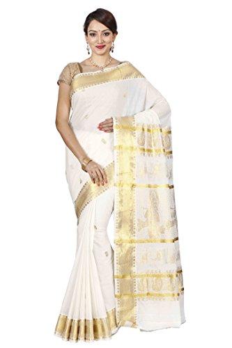 The Chennai Silks - Kerala Kasavu Cotton Saree - Off-White - (CCMYSC5254)