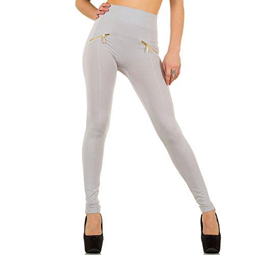 Damen Leggings, SHAPEWEAR HIGH WAIST ZIPPER LEGGINGS, SS-BF93063 Grau