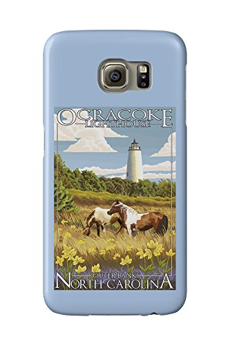 Ocracoke Lighthouse (Outer Banks, North Carolina - Ocracoke Lighthouse (Galaxy S6 Cell Phone Case, Slim Barely There))