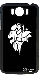 Case for Htc One Sensation XL – Lion Black & White - ref 304