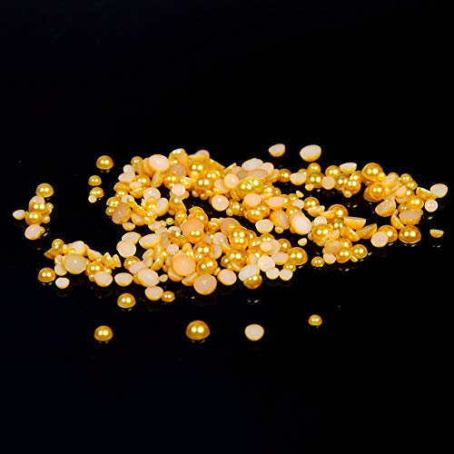 CUSHY 2 mm, 4 mm, 6 mm, 8 mm, 10 mm, 12 mm, 14 mm Topaze Round Back Half Pearl Pearl Pearl Beads : 6 mm 5000 pcs