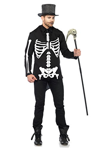 Leg Avenue 85601 2 teilig Bone Daddy, Männer Karneval Kostüm Fasching, L, (Kostüme Avenue Skelett Leg)