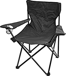 Robuster Camping Outdoor Angler Klappstuhl Outdoor Farbe Schwarz mit Armlehne