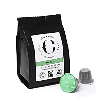 CRU Kafe Organic Coffee Capsules Nespresso Compatible Fairtrade - Decaffeinated by CRU Kafe