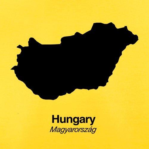 Hungary / Ungarn Silhouette - Herren T-Shirt - 13 Farben Gelb