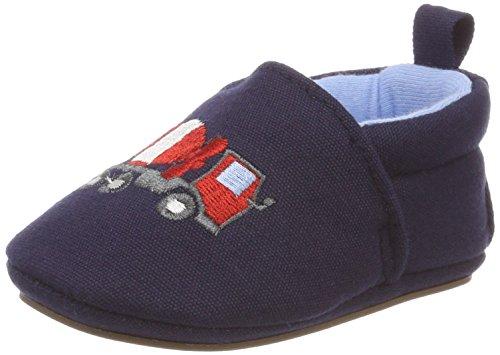 Sterntaler Baby-Schuh mit rutschfesten Sohlen für Jungen, Alter: 18-24 Monate, Größe: 22, Farbe: Blau (Marine), Art.-Nr.: 2301854