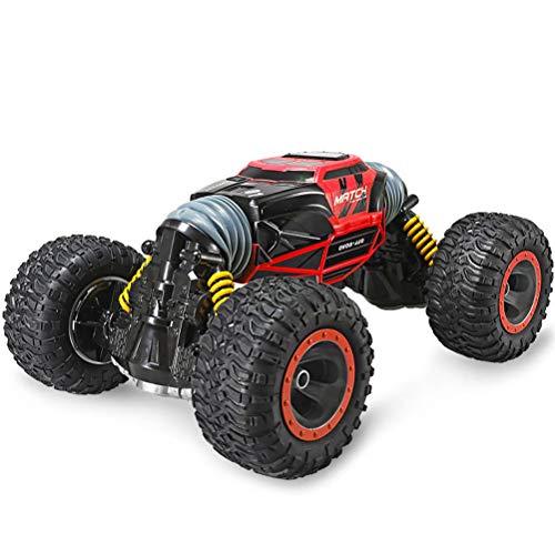 WANGKM RC Auto, Fernbedienung LKW 2,4 GHz 1/10 Crawler Off Road Fahrzeug LKW Spielzeug für Kinder, High Speed Racing Radio Control Klettern Autos,Red