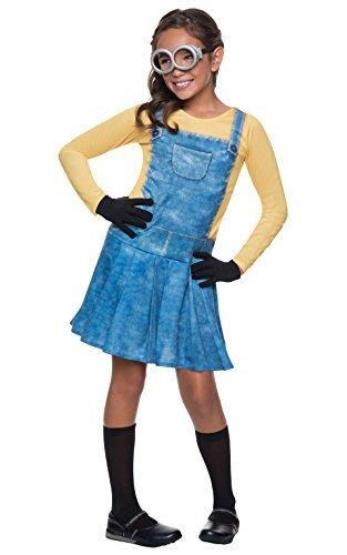 Minions Kinder Kostüm Minion Mädchen Karneval Fasching Gr.7 -