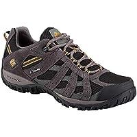 Columbia Men's Redmond Waterproof Hiking Shoe, Black, Squash, 9 D US