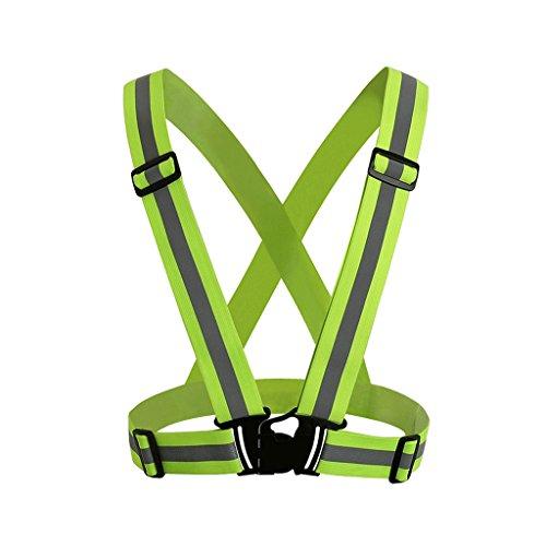 NONMON 1x Chaleco Ajustable Reflectante de Seguridad con Alta Visibilidad Cinturón Elástico...