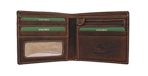 Visconti Cartera SHIELD Cuero Engrasado 707 Canela