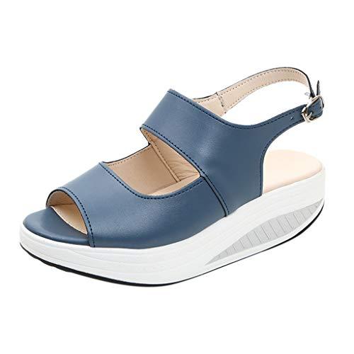 Wawer_Damen Sandalen  Frauen Peep Toe Höhe Plattform Hohe Größe Plattform Shake Sandalen Schuhe, Fischmaul Wedge Lazy Shoes Freizeitschuhe Einzelschuhe -