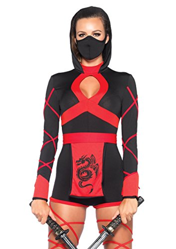 Leg Avenue 85401 - Dragon Ninja Damen kostüm, Größe Small (EUR 36), Karneval (Assassine Frau Kostüm)