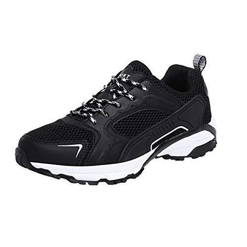 Luckycat Herren Laufschuhe Half Palm Air Cushion Trainers Joggen im Freien Athletic Fitness Sneaker Running Trainer Herren Gym Fitness Schuhe mit Memory Foam Einlegesohle