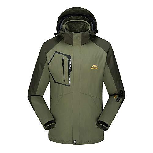 Beonzale Herren Winter Herbst Fleece Liner Outdoor Plus Size Hoodie Zweiteiler Sport Assault Mantel Jacke Outwear Coat