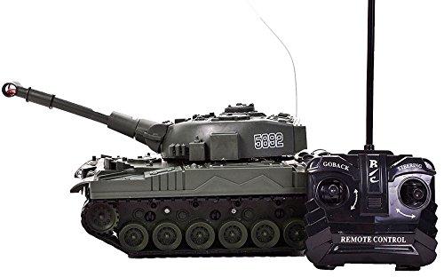 Panzer (ferngesteuert) - Sound- und Lichteffekte - Fernbedingung - HighTech Spielzeug (Hund Hai Outfit)