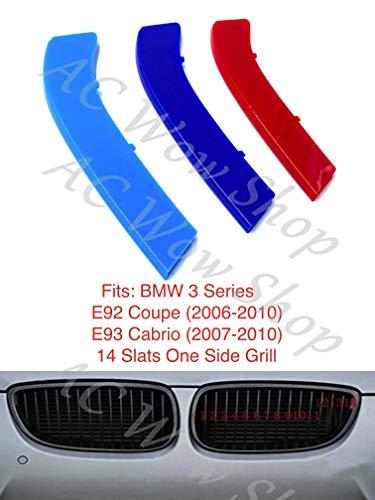 B M W Serie 3 E92 Coupe E93 Cabrio 2006-2010 14 BARS cofano radiatore griglia strisce inserti clip M Power Sport Performance Tech Paket colore griglie distintivo