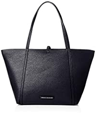 Idea Regalo - ARMANI EXCHANGE Tote Bag - Borse Donna, Blu (Navy), 29x13x44 cm (B x H T)