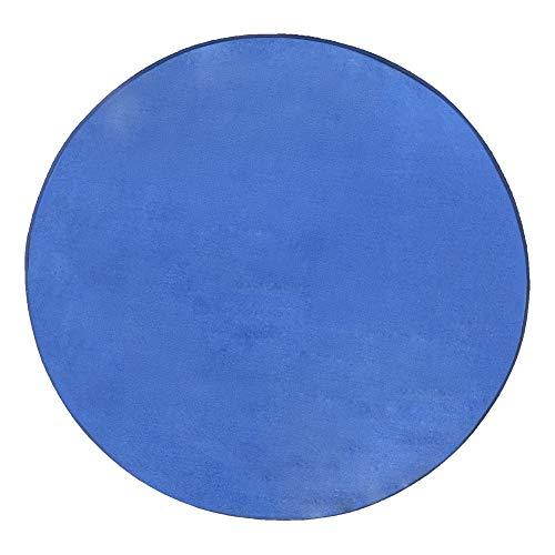 Zorazone Teppich Für Kinderzelt Fleece Matte Jungs Runder Teppich 100cm Spielzelt Matte Tiefes Blau Bodenmatte 100x100cm (100cm Rund Tiefes Blau) -