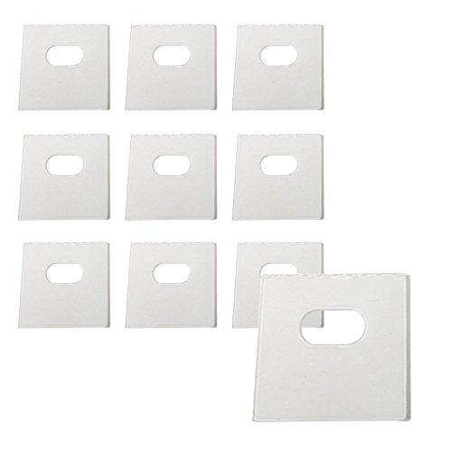 Clip Blind (Klar Vertical Blind Flickzeug Tabs/Vertical Blind Tabs/Blind einfach-50insgesamt Taben (25Sets) und 4Alkohol Tücher farblos)