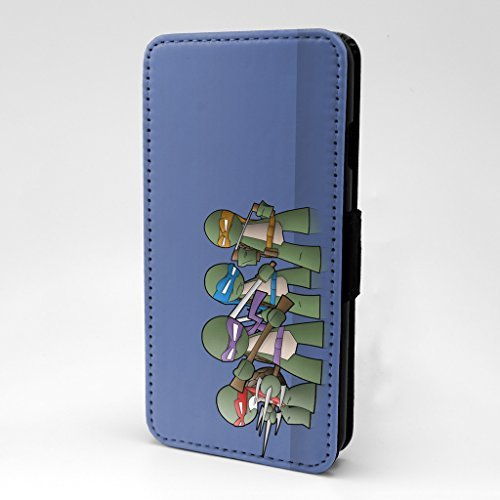 Turtles bedruckt Telefon Flip Case Hülle für Apple iPhone 7 & 7S - TMNT - s-t0171 (Ninja Turtles Passt)