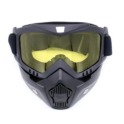 Komplett gerahmte Maske Skibrille Radsportbrille für Outdoor-Sport-gelb