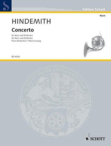 Concerto: Horn und Orchester. Klavierauszug mit Solostimme. (Edition Schott)