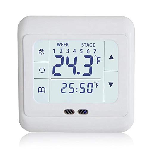 Zaote Thermostat für Smart Home Dual Temperaturregler Knob Regler Touchscreen Elektrische Heizung Thermostat Panel Intelligent