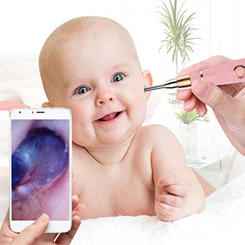 Drahtlose Otoskop, 4,3mm-Durchmesser Visual Ear Cleaner Ear Scope Camera mit Earwax Removal Tool und Otoscope Specula für Kinder, Baby und Erwachsene