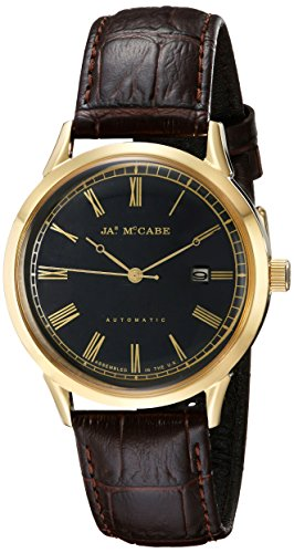 James McCabe Men's JM-1021-03 Heritage Analog Display Japanese Automatic Brown Watch
