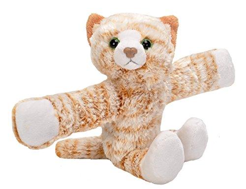 Wild Republic Huggers Schnapparmband Kuscheltier, Plüschtier, Katze 20 cm (Kuscheltier Wild Katze)