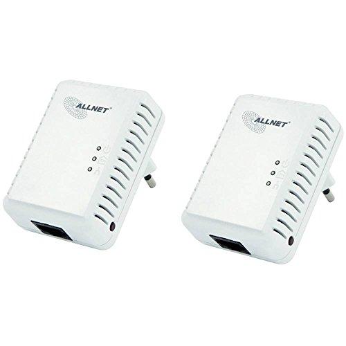 Allnet ALL168250 Powerline Homeplug AV Adapter (500Mbps, 1x RJ45 10/100Mbps, 2er Pack)