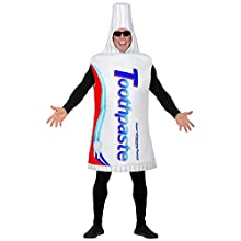 Widmann 02601 Adult Toothpaste Costume Unisex - Adults White