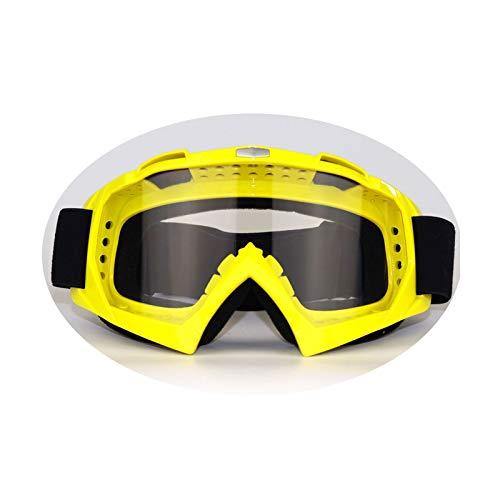 KnSam Winddicht Uv-Beständig Taktische Schutzbrille Kratzfester Scheibe Panoramablickfeld Gelb Transparent Schutzbrille