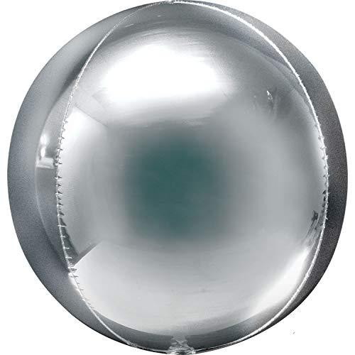 Amscan International- Globo, Color plata (Anagram 3910199)