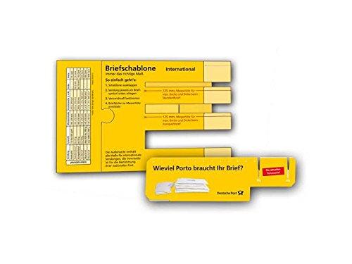 Briefschablone Formatschablone Postschablone Brief Inland POST