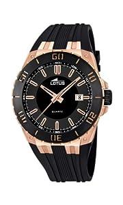 Reloj Lotus 15808/1 de cuarzo para hombre con correa de caucho, color negro de LOTUS