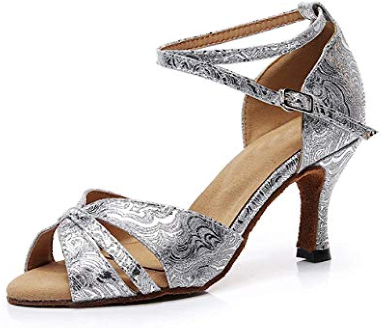 Willsego Ladies Ankle Strap Strap Strap argento Glitter Salsa Latin Ballroom Dance Sandali Scarpe da Sposa UK 7.5 (Coloreee  ... | Sale Italia  | Maschio/Ragazze Scarpa  aa783d