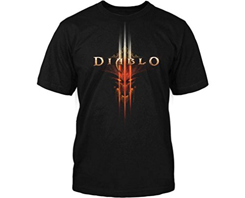 Diablo III Face T-Shirt Gr. Small, Schwarz - Schwarz - T-shirt Diablo 3